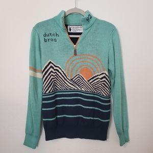 Dutch Brothers Zip Collar Sweater 0090